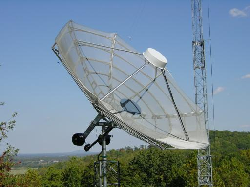 Here S The Dish In Satellite Operational Configuration